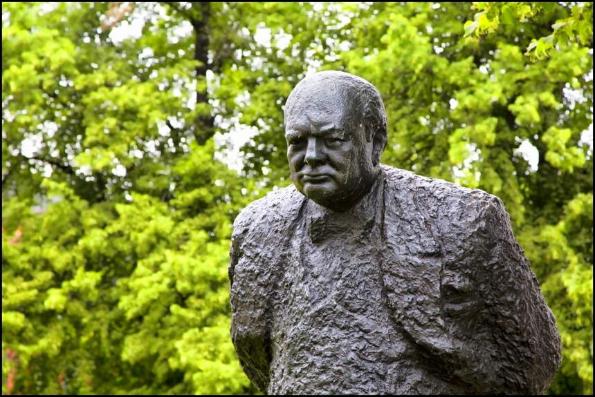 A-bronze-statue-of-Winston-Churchill-weighing-1.5-tons-and-standing-ten-feet-high-is-found-in-Halifax-Nova-Scotia-Canada.