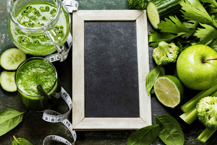 green-smoothy-blackboard