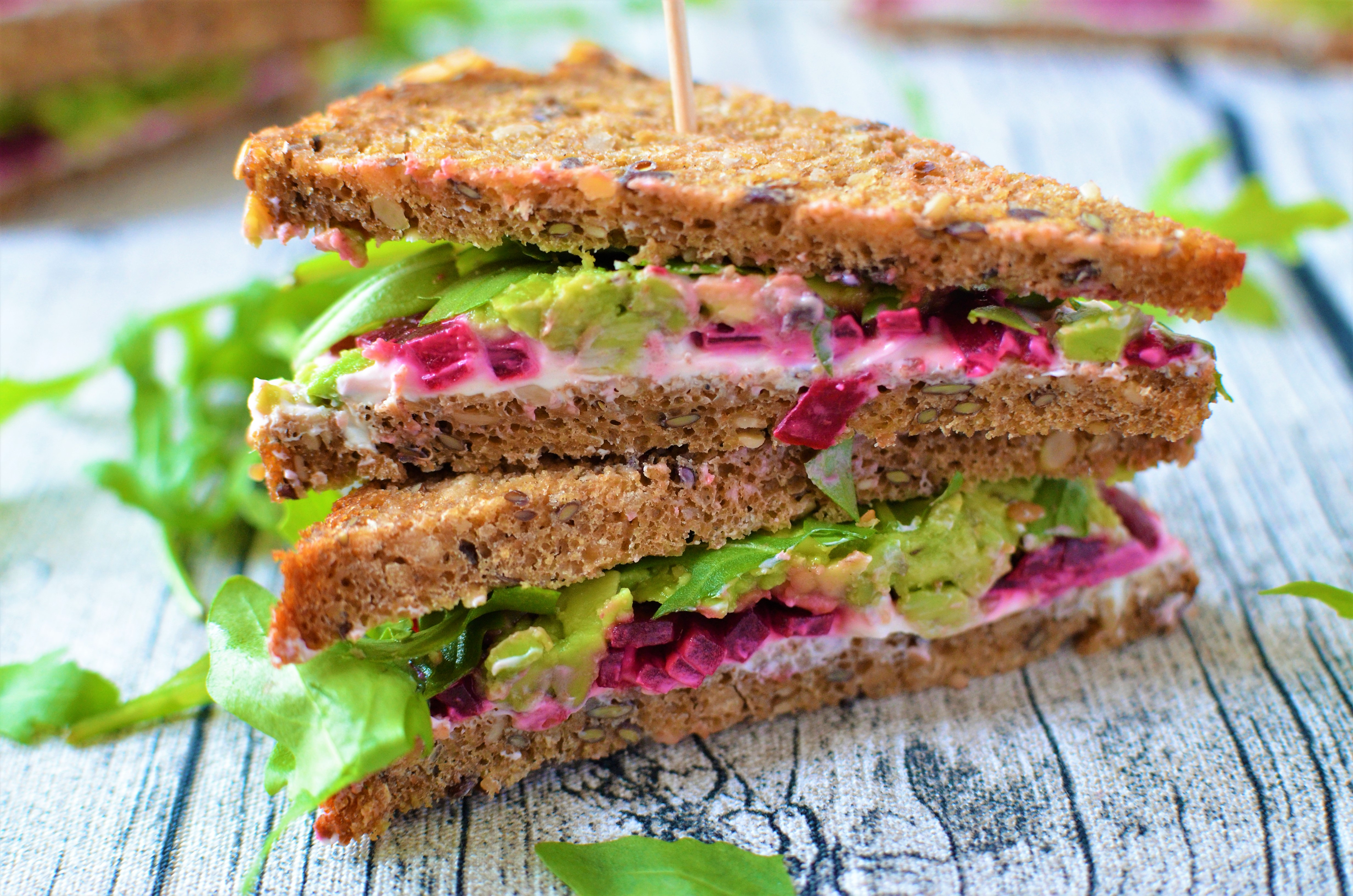 Rezept: Vollwertige Rote-Beete-Sandwiches
